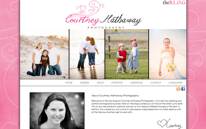 blog design for photographer Courtney Hathaway